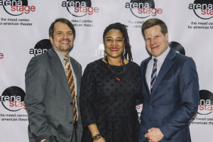 Santo D. Marabella with playwright, Lynn Nottage, and Oregon Shakespeare Festival Artistic Director, Bill Rauch